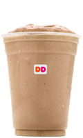 Dunkin' Donuts Frozen Iced Coffee with whipped cream.