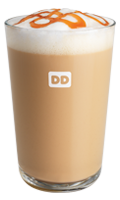 A Dunkin' Donuts delicious hot latte.