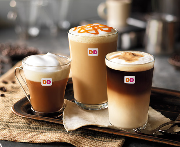 Dunkin' Donuts hot drinks.
