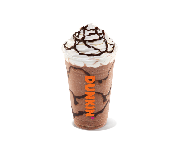 A frozen chocolate drink
